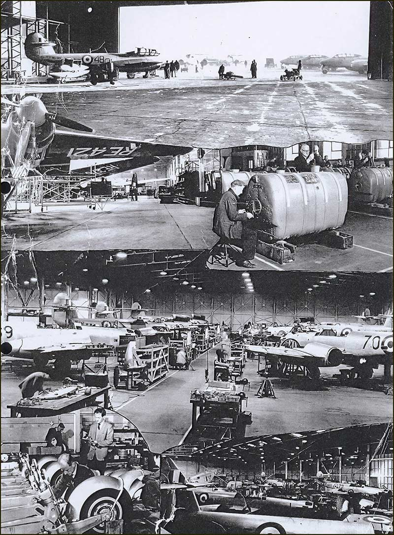 Inside the Langar Sheds in 1950s. From 1952 to 1963 the Canadian Royal Airforce was stationed at Langare Airfield.