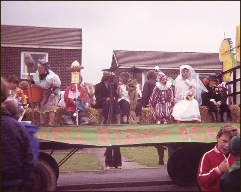Starting point of the Parade on the day of the Annual Village Fete (1978 approx)