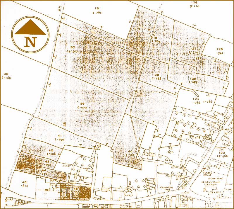 Map of west Cropwell Bishop in 1960s
