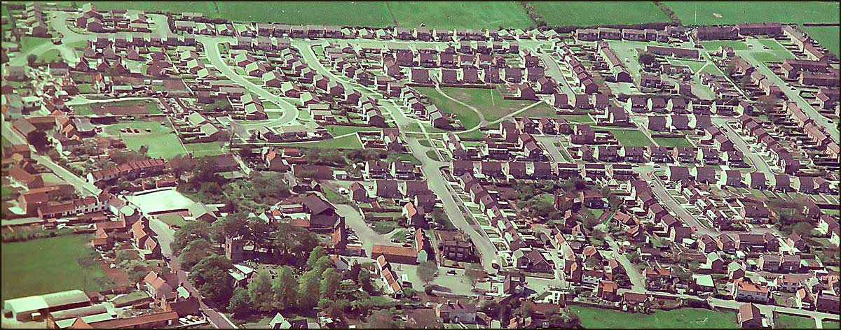 Aerial View of new estates in 1977