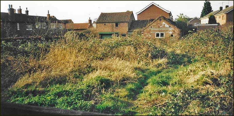 The land on which the bungalow on Thurlby Close was built (2002)