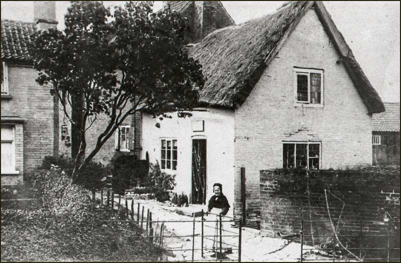 Original thatched post office. Ann Shelton