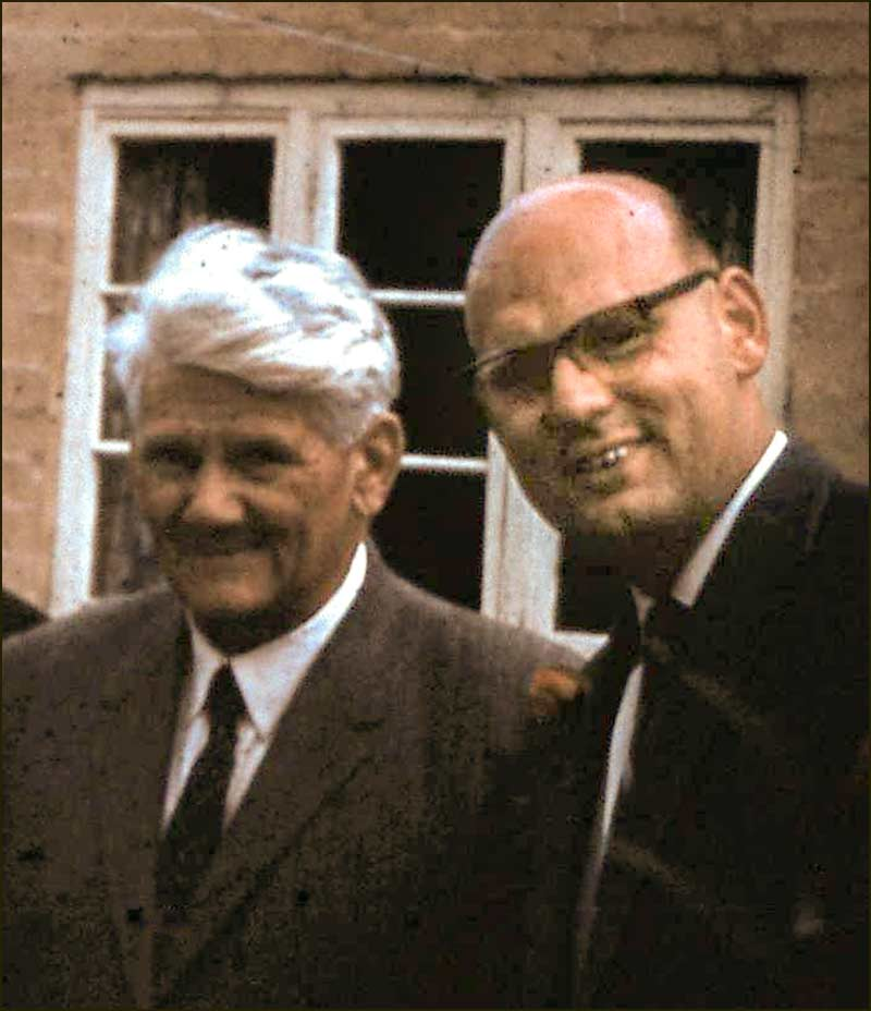 Doctor Leadley (right) with Vic Hall in 1965