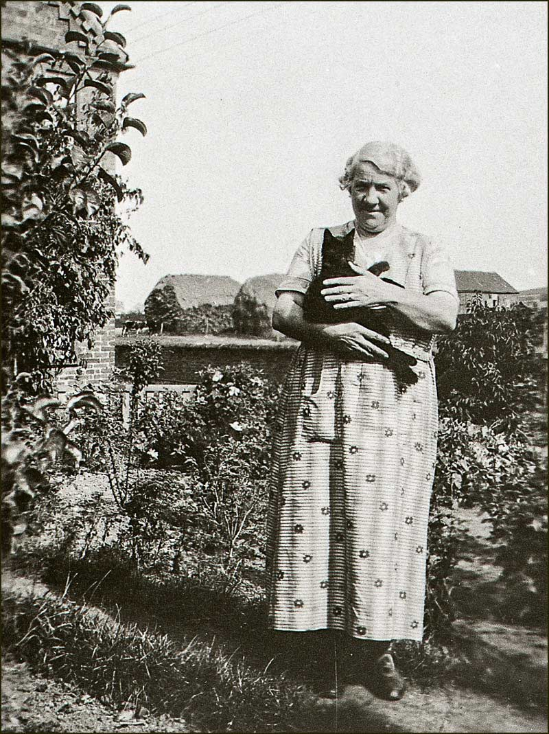 Mrs Alice Knight with cat